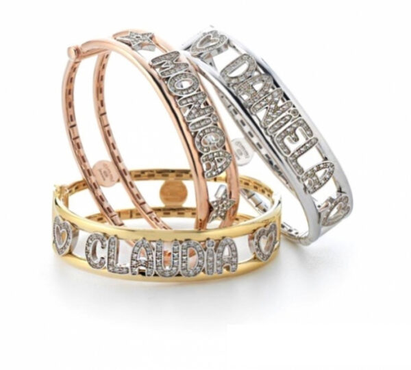 Bracciale rigido con nome personalizzabile Dimmi Jewels
