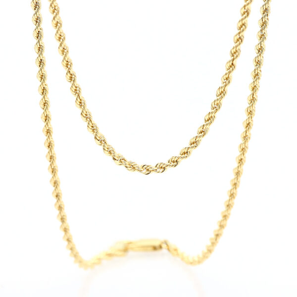 Collana Fune Unisex MM. 2,7 Oro Giallo 18 Carati