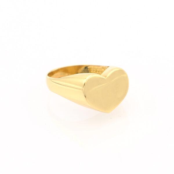 Anello Cuore in Oro 18 Carati Personalizzabile